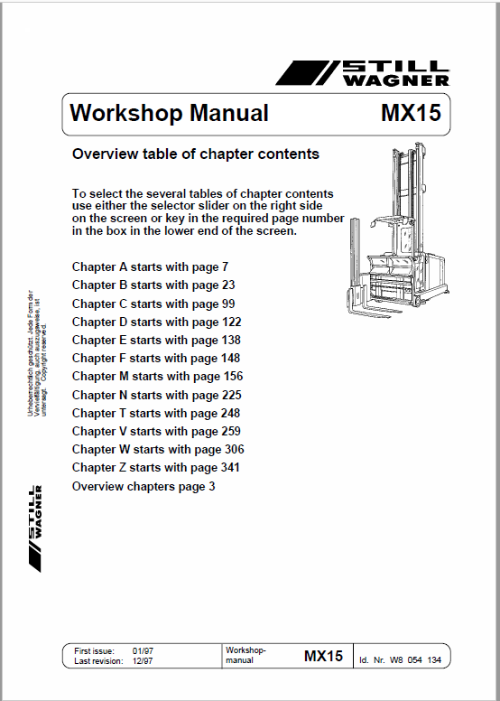 Still MX15 Order Picker