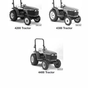 John Deere 4200, 4300, 4400 Compact Utility Tractors Technical Manual