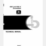John Deere 690, 690A Excavator Technical Manual TM-1017