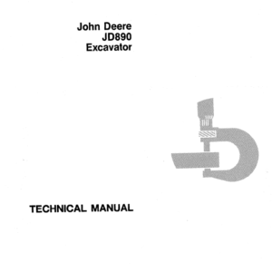 John Deere 890 Excavator Technical Manual TM-1163