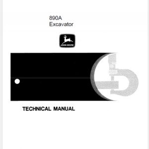 John Deere 890A Excavator Technical Manual TM-1263