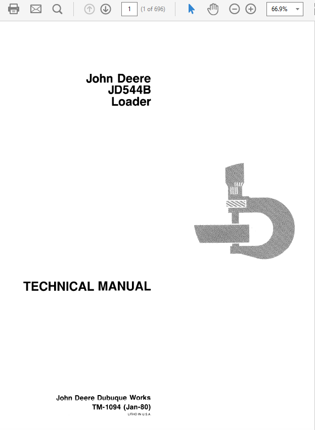 John Deere 544B Loader Technical Manual TM-1094