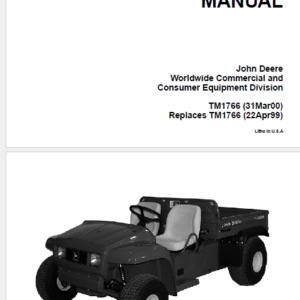 John Deere E-Gator Technical Manual TM-1766
