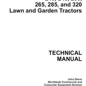 John Deere 240, 245, 260, 265, 285, 320 Lawn and Garden Tractors TM-1426