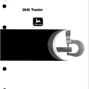 John Deere 3640 Tractor Technical Manual TM-4419