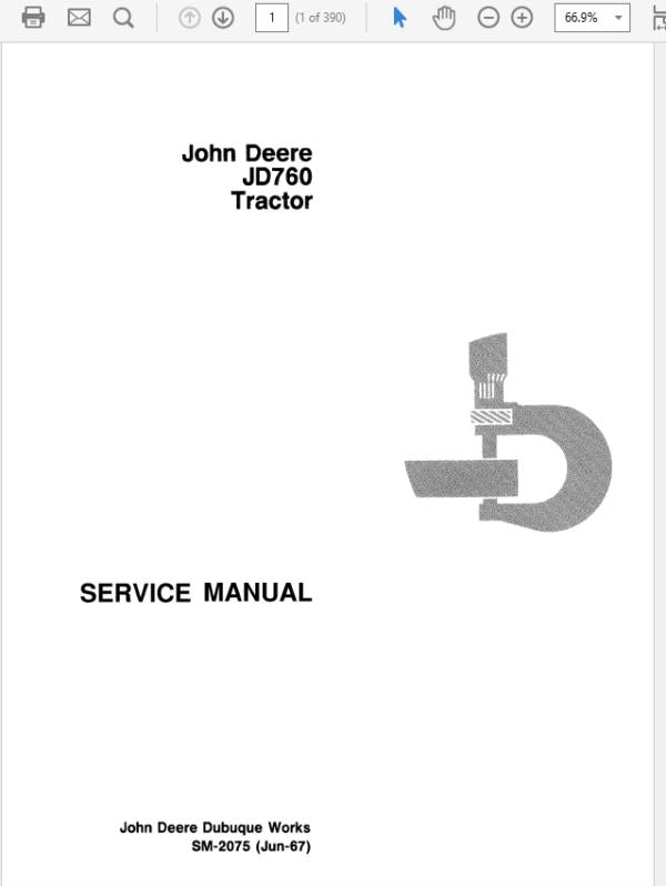 John Deere 760 Tractor Technical Manual SM-2075