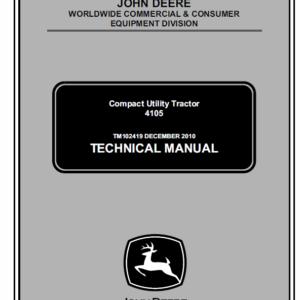 John Deere 4105 Compact Utility Tractors Technical Manual TM-102419