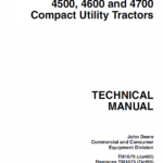 John Deere 4500, 4600 and 4700 Compact Utility Tractor Technical Manual