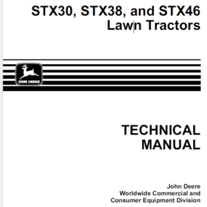 John Deere STX30, STX38, STX46 Lawn Tractors Technical Manual TM-1561