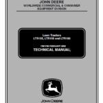 John Deere LTR155, LTR166, LTR180 Lawn Tractors Technical Manual TM-1768