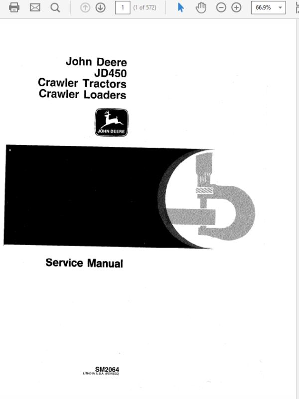 John Deere 450 Crawler Tractor and Loaders Technical Manual SM-2064
