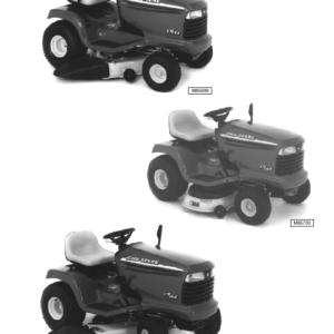 John Deere LT133, LT155, LT166 Lawn Tractor Technical Manual TM-1695
