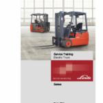 Linde Series 346 Electric Forklift Truck: E18, E20, E20P Workshop Repair Manual