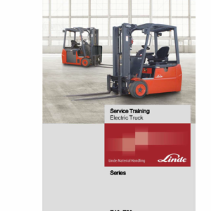 Linde Series 346 Electric Forklift Truck: E18, E20, E20P Workshop Repair Manual
