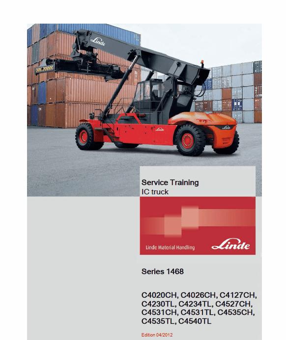 Linde Series H1468 Reachstacker : C4020-4535CH, C4230-4540TL manual