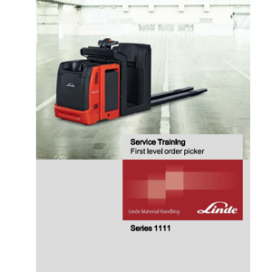Linde Order Picker Type 1111 N20VI, N20VLI Manual