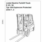 Linde Series 336 Electric Forklift Truck: E20, E25, E30 Workshop Service Manual