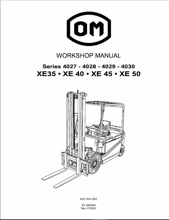 OM Pimespo XE35, XE40, XE45, XE50 Forklift