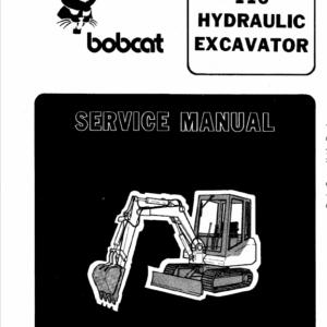 Bobcat 116 Excavator Service Manual
