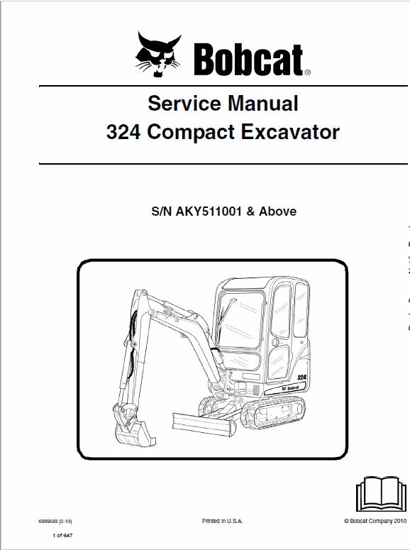 Bobcat 324 Excavator manual