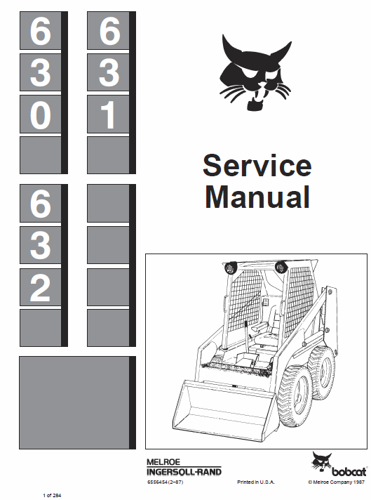 Bobcat 630, 631 and 632 Skid-Steer Loader manual