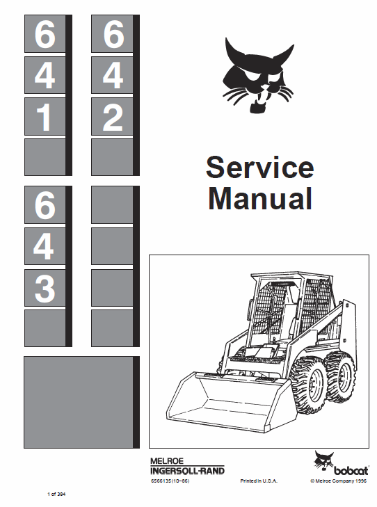 Bobcat 641, 642 and 643 Skid-Steer Loader manual