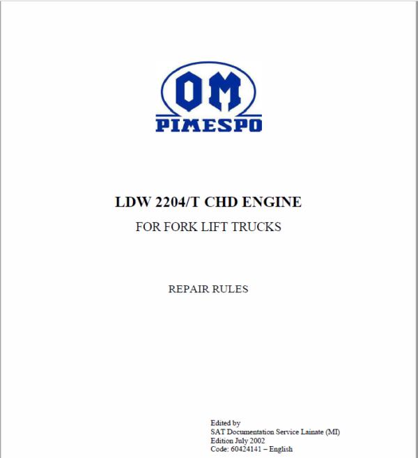 OM Pimespo LDW 2204/T CHD Engine