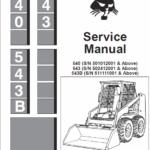 Bobcat 540 and 543 Skid-Steer Skid-Steer Loader manual