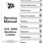 JCB 1CX 208S Backhoe Loader Service Manual