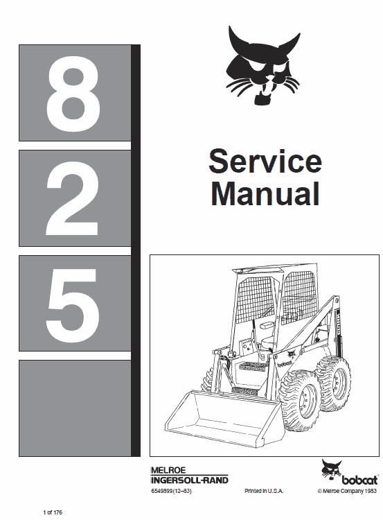 Bobcat 825 Skid-Steer Loader Manual