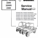 Bobcat 2200, 2200s and 2300 Utility Vehicle manual