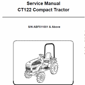 Bobcat CT122 Compact Tractor Service Manual