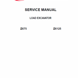 Bobcat ZX75 and ZX125 Ingersoll Rand Excavator Service Manual