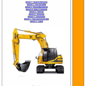 JCB JZ235, JZ255 TIER 3 Auto Tracked Excavator Service Manual