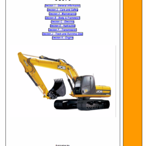 JCB JS370 Tracked Excavator Service Manual