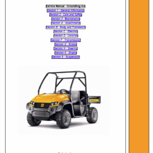 JCB Groundhog 4x4 Utility Vehicle Service Manual