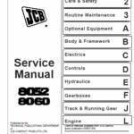 JCB 8052, 8060 Mini Excavator Service Manual