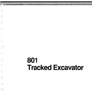 JCB 801 Tracked Excavator Service Manual