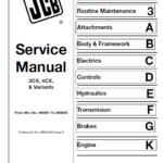 JCB 3CX, 4CX Backhoe Loader Service Manual