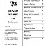 JCB 4DX Backhoe Loader Service Manual