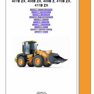 JCB 407B ZX, 408B ZX, 409B Z, 410B ZX Wheeled Loader Service Manual