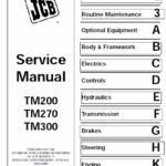 JCB TM200, TM270, TM300 Wheeled Loader Shovel Service Manual