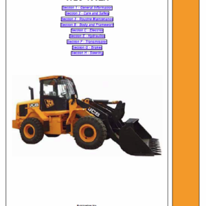 JCB 430ZX Wheeled Loader Shovel Service Manual