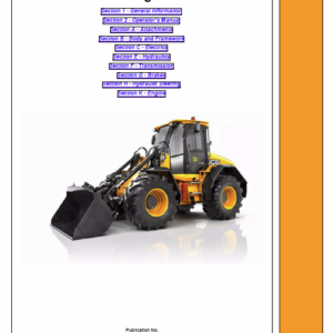 JCB 418S Wheeled Loader Shovel Service Manual