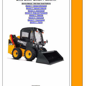 JCB 135 (T3) Skid Steer Loader Robot Service Manual