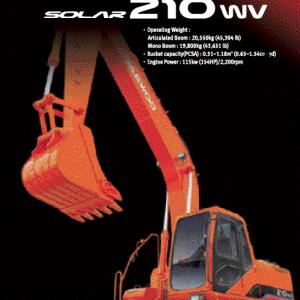 Doosan Daewoo Solar S210W-V Excavator Service Manual