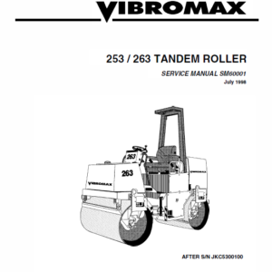 JCB Vibromax 253, 263 Tandum Roller Service Manual