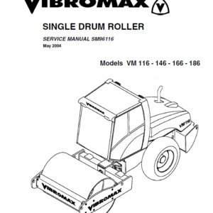 JCB Vibromax VM 116,146,166,186 Single Drum Roller Service Manual