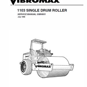 JCB Vibromax 1103 Single Drum Roller Service Manual
