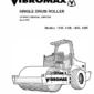 JCB Vibromax 1105, 1106, 1405, 1805 Single Drum Roller Service Manual